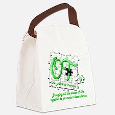 ot puzzlegreen Canvas Lunch Bag