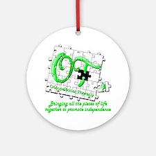 ot puzzlegreen Round Ornament