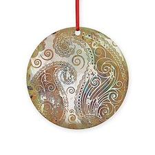 vintage color paisley Ornament (Round)