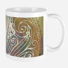 vintage color paisley Mugs