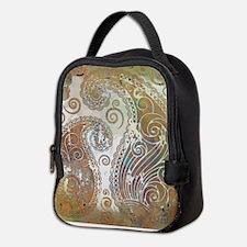 vintage color paisley Neoprene Lunch Bag