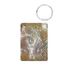vintage color paisley Keychains