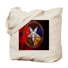 3-Front Cover Satanic Shadows Tote Bag
