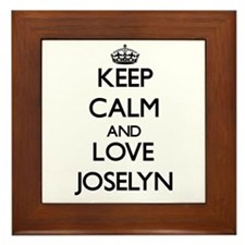 Keep Calm and Love Joselyn Framed Tile