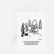 Divorce Lawyer Attends All Weddings Greeting Card