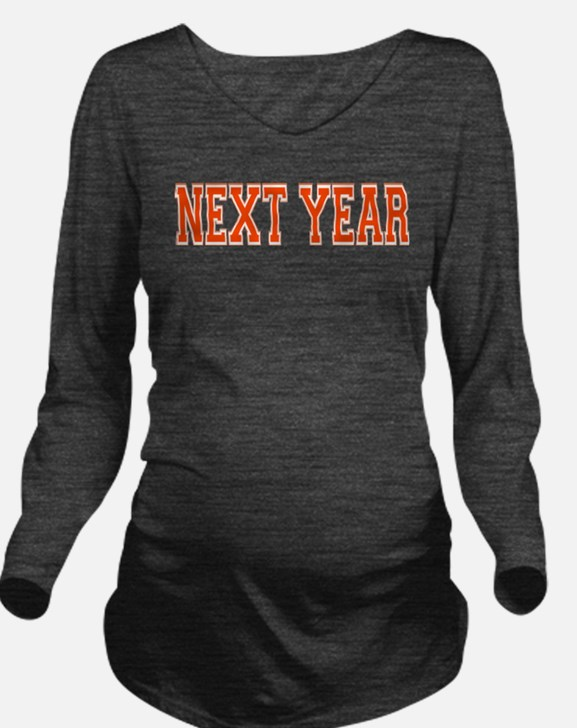 NEXT YEAR Long Sleeve Maternity T-Shirt