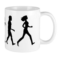evolution woman-black Mug