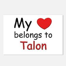 My heart belongs to talon Postcards (Package of 8)