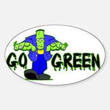 Go_Green_Frank_light Sticker (Oval)