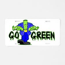 Go_Green_Frank_light Aluminum License Plate