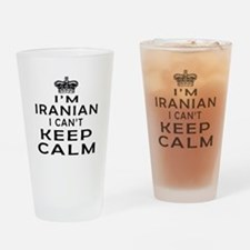I Am Iranian I Can Not Keep Calm Drinking Glass