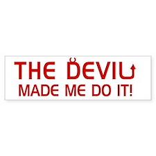 thedevil for darks Bumper Sticker