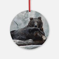 bears Round Ornament