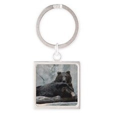 bears Square Keychain