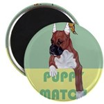 Puppy Boxer in Ear Tapes Magnet