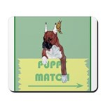 Puppy Boxer in Ear Tapes Mousepad