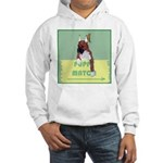 Puppy Boxer in Ear Tapes Hooded Sweatshirt