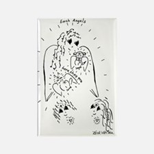 Earth Angel Pets Rectangle Magnet
