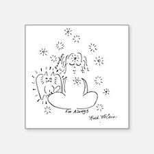 "Guardian Angel Cat Square Sticker 3"" x 3"""