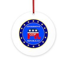 GOP Round Ornament