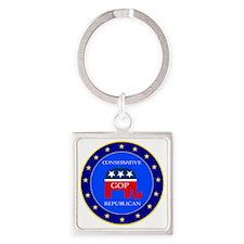 GOP Square Keychain