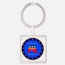 GOP Square Keychain