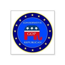 "GOP Square Sticker 3"" x 3"""