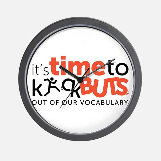Time kick buts Wall Clock