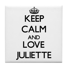 Keep Calm and Love Juliette Tile Coaster