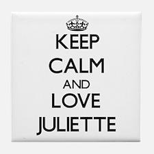 Keep Calm and Love Juliette Tile Coaster