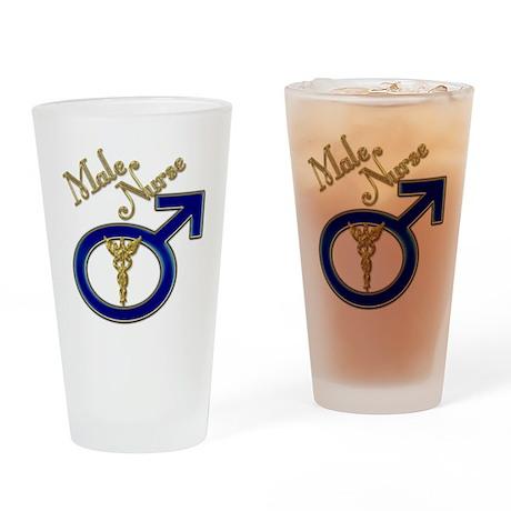 male nurse gold 1 Drinking Glass