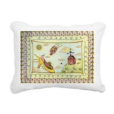 2-cat_shoe Rectangular Canvas Pillow