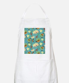 Tropical Floral Orchid Botanical Butterfly B Apron