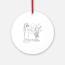 Planting the Positive Keepsake Round Ornament