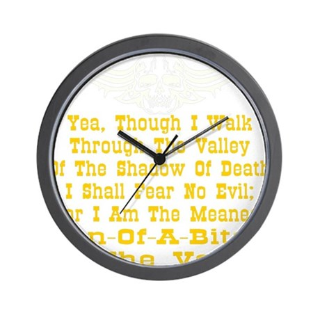 blk_Meanest_SOB_Valley3 Wall Clock