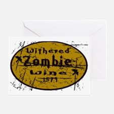 2-Withered Zombie Wine Greeting Card