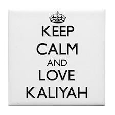 Keep Calm and Love Kaliyah Tile Coaster