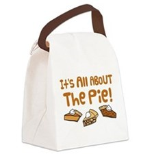 It's All About The Pie Canvas Lunch Bag
