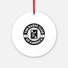 Radio Club of America Round Ornament