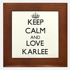 Keep Calm and Love Karlee Framed Tile