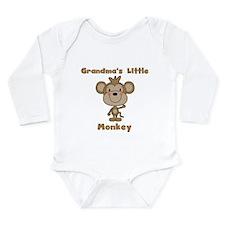 Grandma's Little Monkey Long Sleeve Infant Bodysui