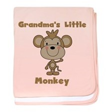 Grandma's Little Monkey baby blanket