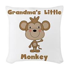 Grandma's Little Monkey Woven Throw Pillow