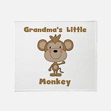 Grandma's Little Monkey Throw Blanket