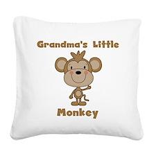 Grandma's Little Monkey Square Canvas Pillow