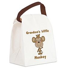 Grandma's Little Monkey Canvas Lunch Bag