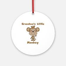 Grandma's Little Monkey Ornament (Round)