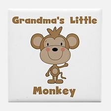 Grandma's Little Monkey Tile Coaster