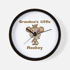 Grandma's Little Monkey Wall Clock