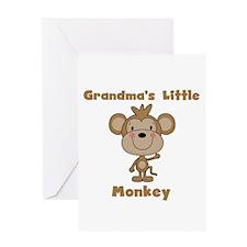 Grandma's Little Monkey Greeting Card